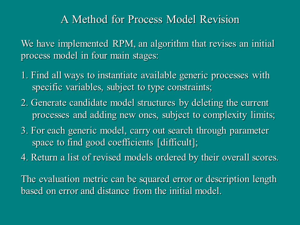 A Method for Process Model Revision