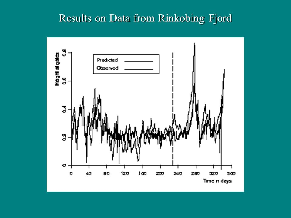 Results on Data from Rinkobing Fjord