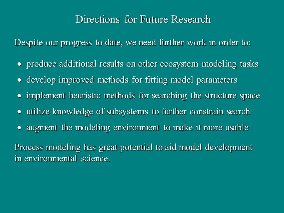 Directions for Future Research