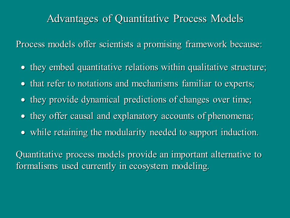 Advantages of Quantitative Process Models
