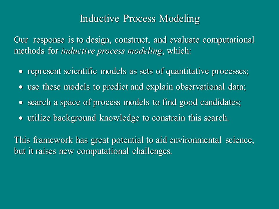 Inductive Process Modeling