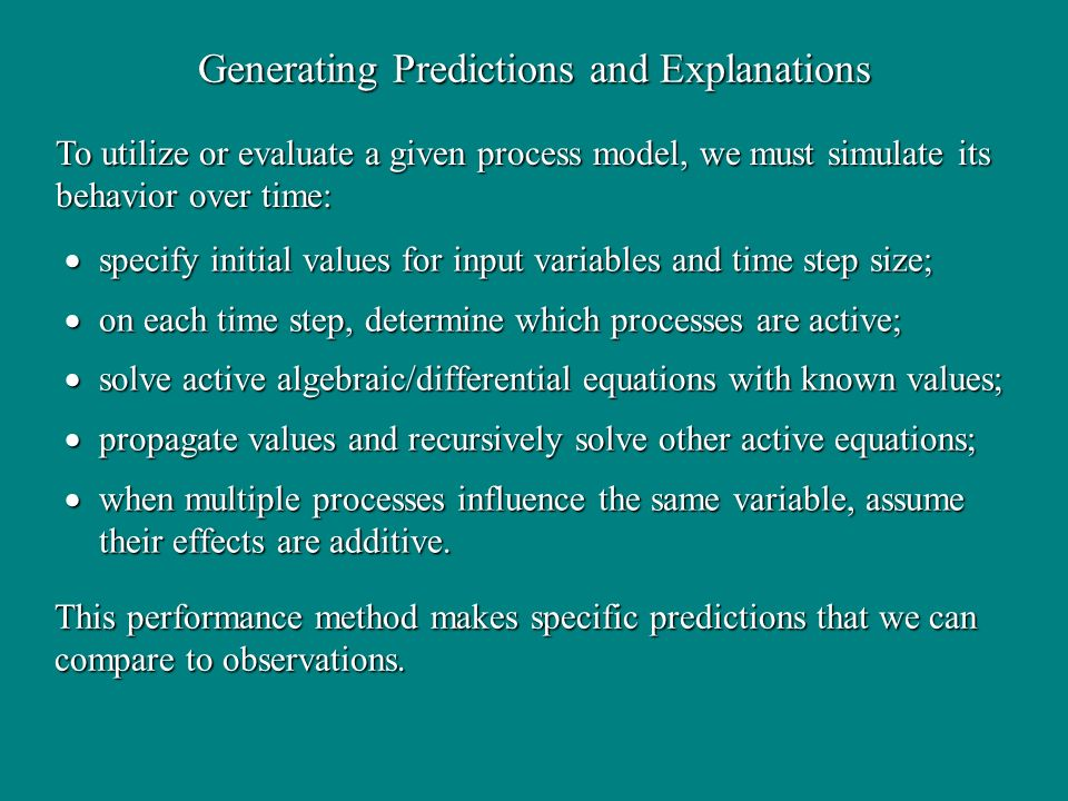 Generating Predictions and Explanations