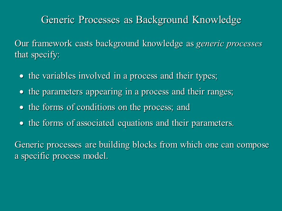 Generic Processes as Background Knowledge