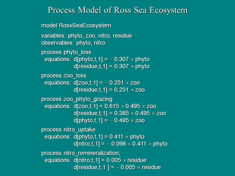 Process Model of Ross Sea Ecosystem