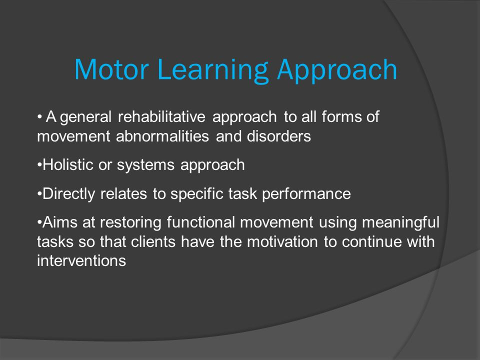 Motor Control And Motor Learning Frames Of Reference Ppt