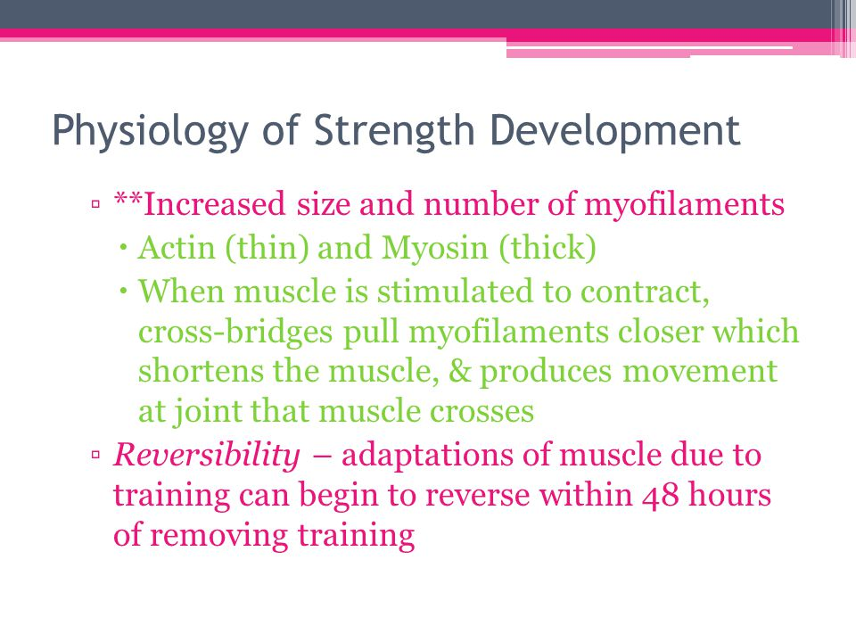 muscle physiology strength training concepts in Muscle contraction without a change in the muscles length, develops strength at one angle, increases heart rate and blood pressure dramatically, not functional for activities of everyday living static (isometric) resistance training exercise.