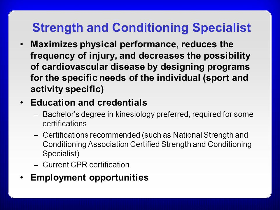 Strength and Conditioning Specialist