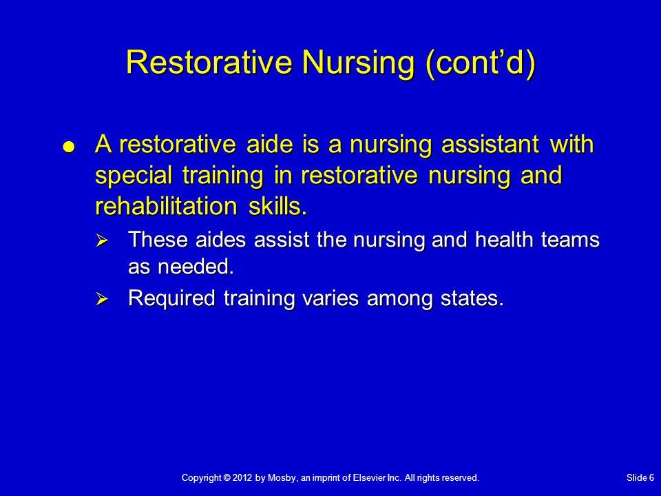 Chapter 38 Rehabilitation and Restorative Nursing Care - ppt download