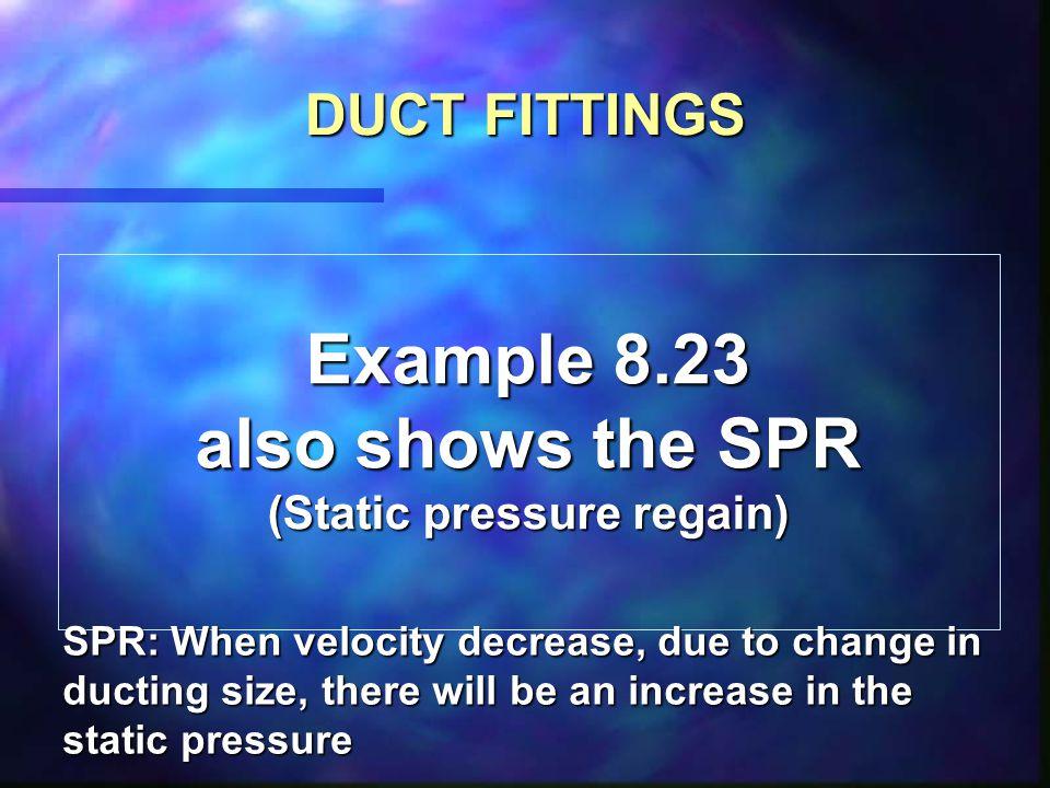 (Static pressure regain)