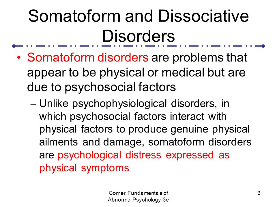 "an analysis of psychosocial factors and psychophysiological disorders These disorders are listed in the dsm-iv-tr under ""psychological factors interaction of psychosocial and physical factors 3 the psychophysiological disorders."