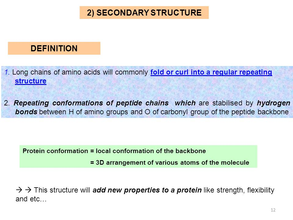 2) SECONDARY STRUCTURE DEFINITION
