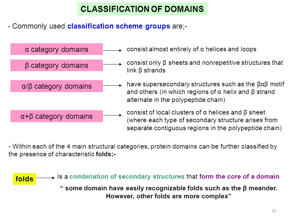 CLASSIFICATION OF DOMAINS