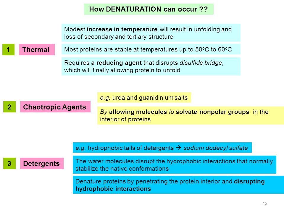 How DENATURATION can occur