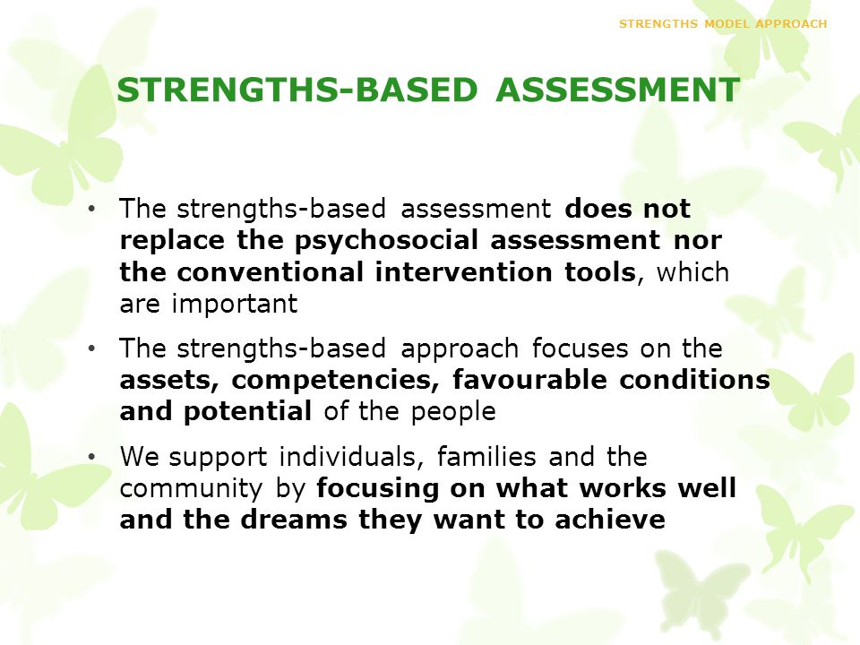 Strengths Model Approach  Ppt Download