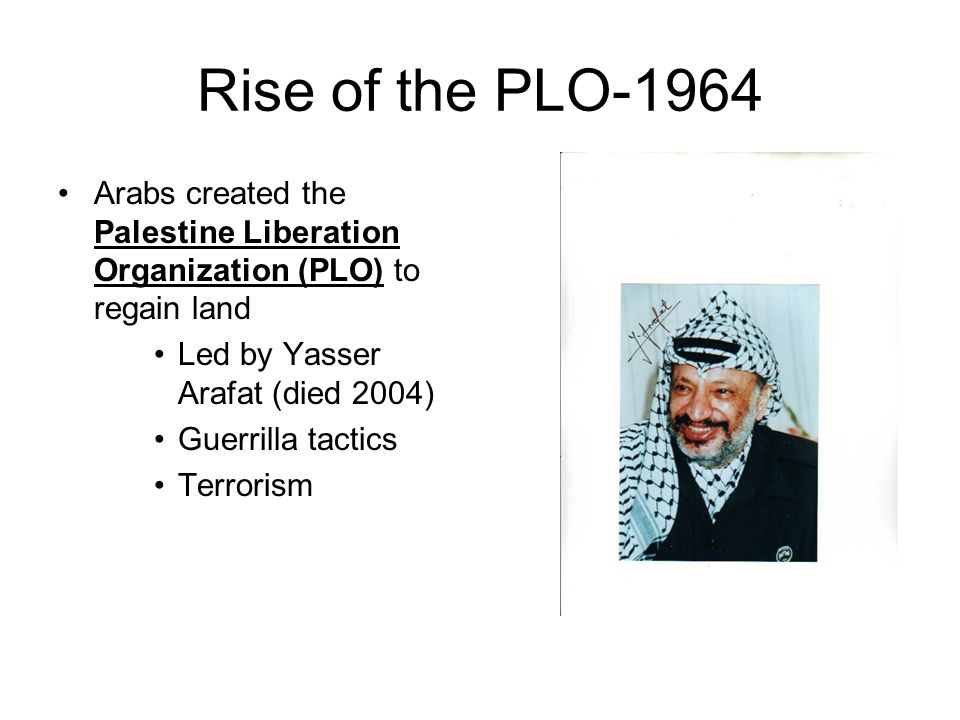 an overview of the palestine liberation organization Rise of the palestine liberation organization (plo) in 1974, the arab league recognized the palestine liberation organization (plo) as the sole legitimate representative of the palestinian people and relinquished its role as representative of the west bank.