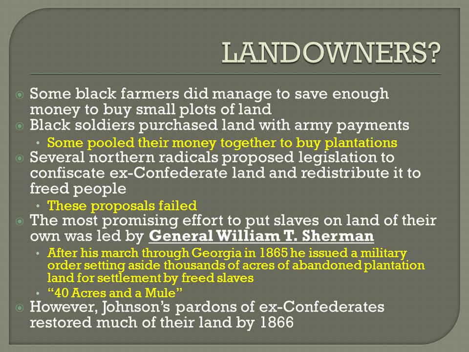 Reconstruction ppt video online download for How to get money to buy land