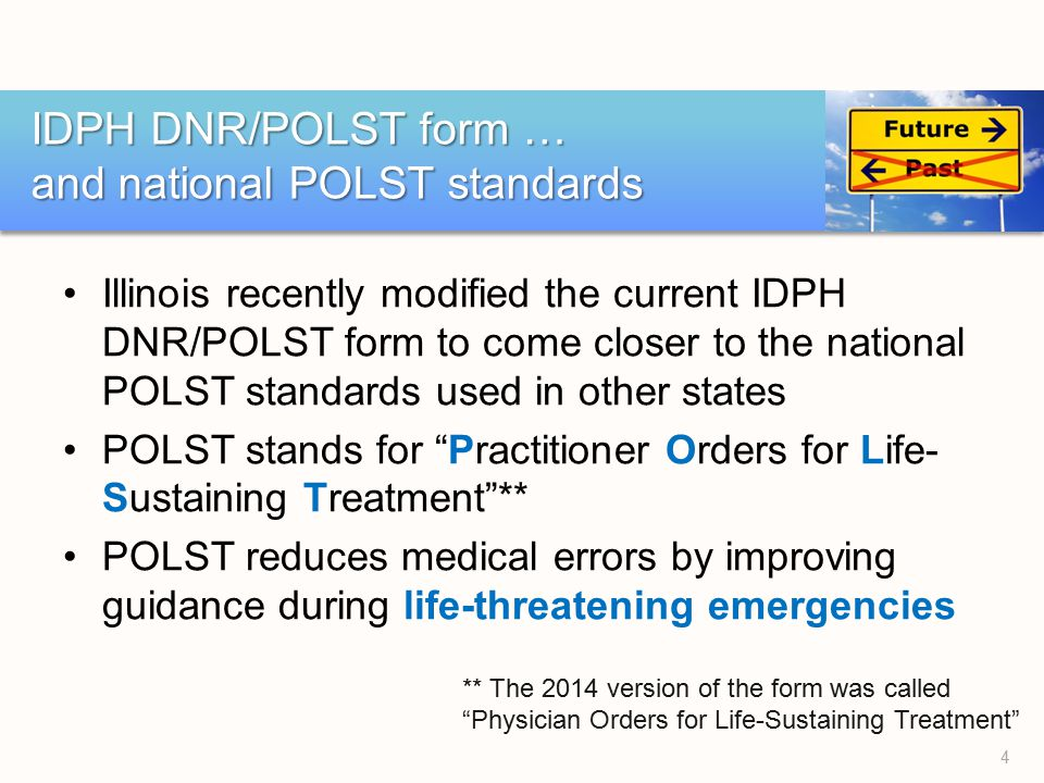 Illinois'S Idph Dnr/Polst Form - Ppt Download