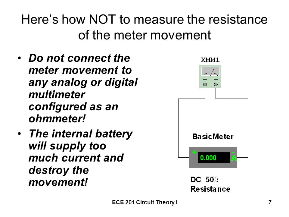 Finding Resistance In Circuit Ohmmeter : Multi range analog ammeter ppt download