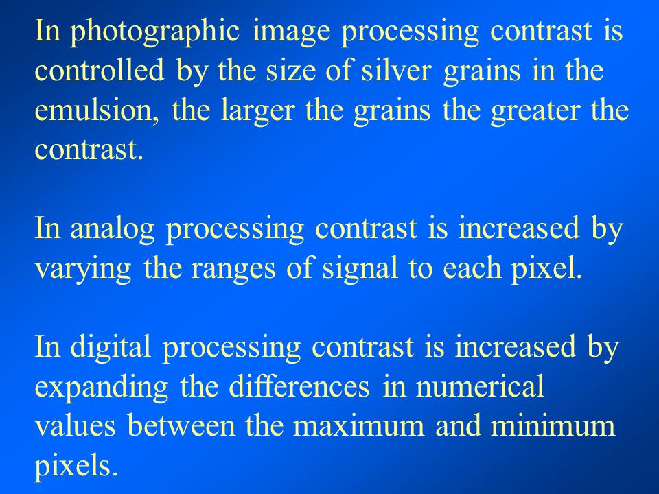 difference between digital image processing and digital image analysis Digital image processing is the use of computer algorithms to perform image processing on digital images as a subcategory or field of digital signal image analysis.