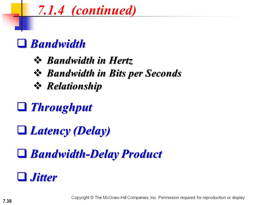 bandwidth and latency relationship