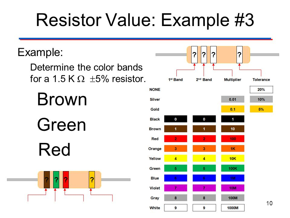 Resistor Value: Example #3