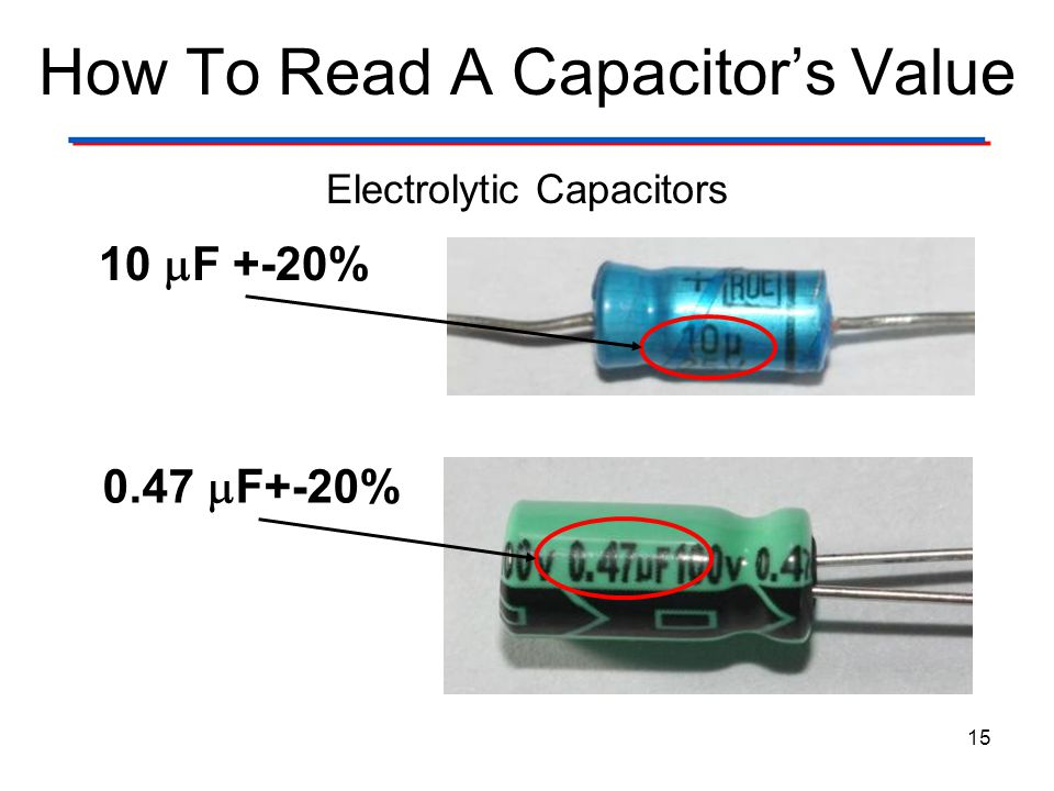 How To Read A Capacitor's Value