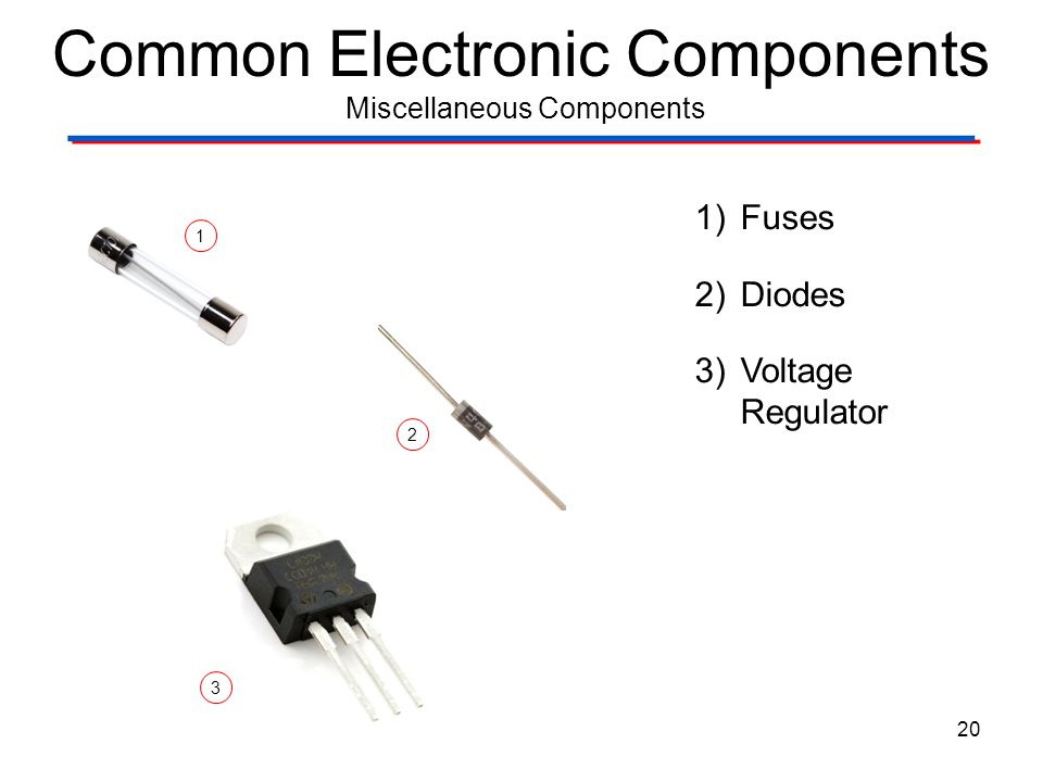 Common Electronic Components Miscellaneous Components