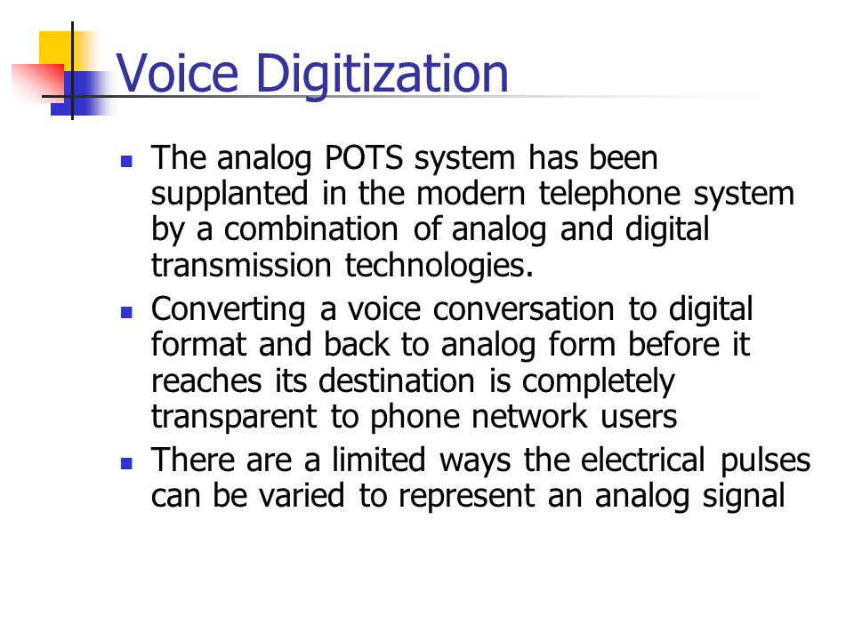 Voice Digitization