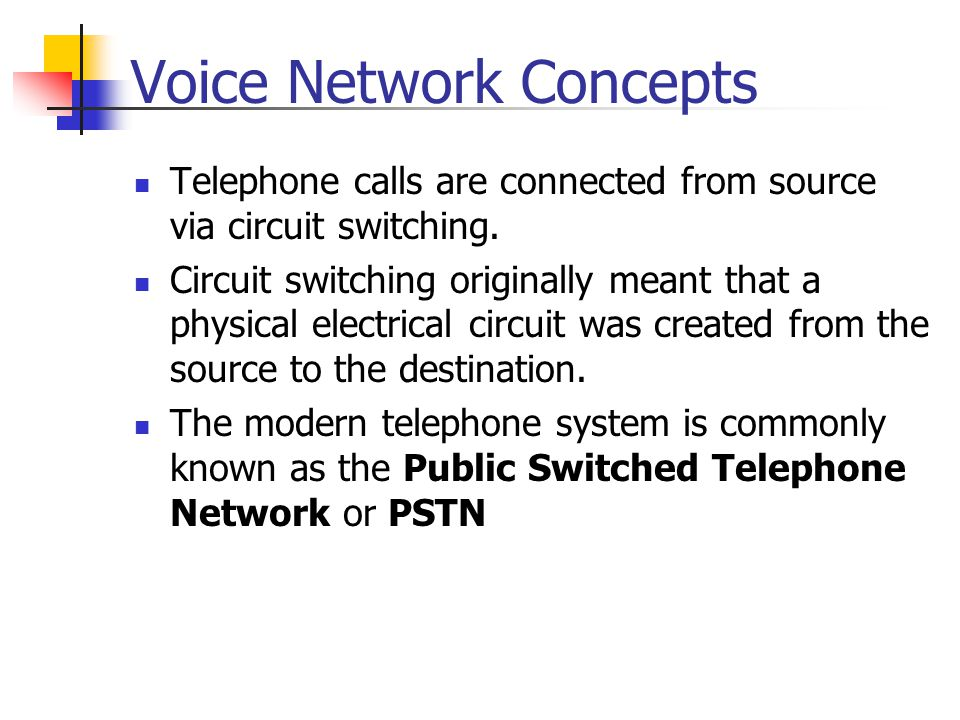 Voice Network Concepts
