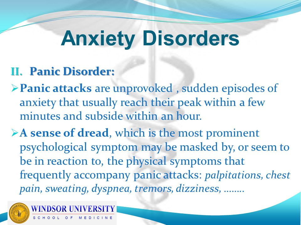 anxiety disorders persistent feeling of dread essay Free essays from bartleby   anxiety disorders introduction: anxiety  with  this disorder, there is a constant feeling of dread that shapes your entire life.