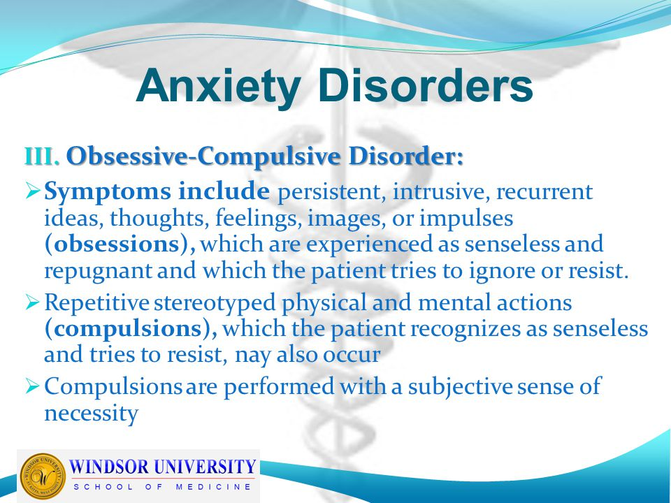 a research on the anxiety disorder obsessive compulsive disorder Following organizations serve the condition obsessive compulsive disorder for support, advocacy or research  obsessive compulsive disorder  anxiety disorder.