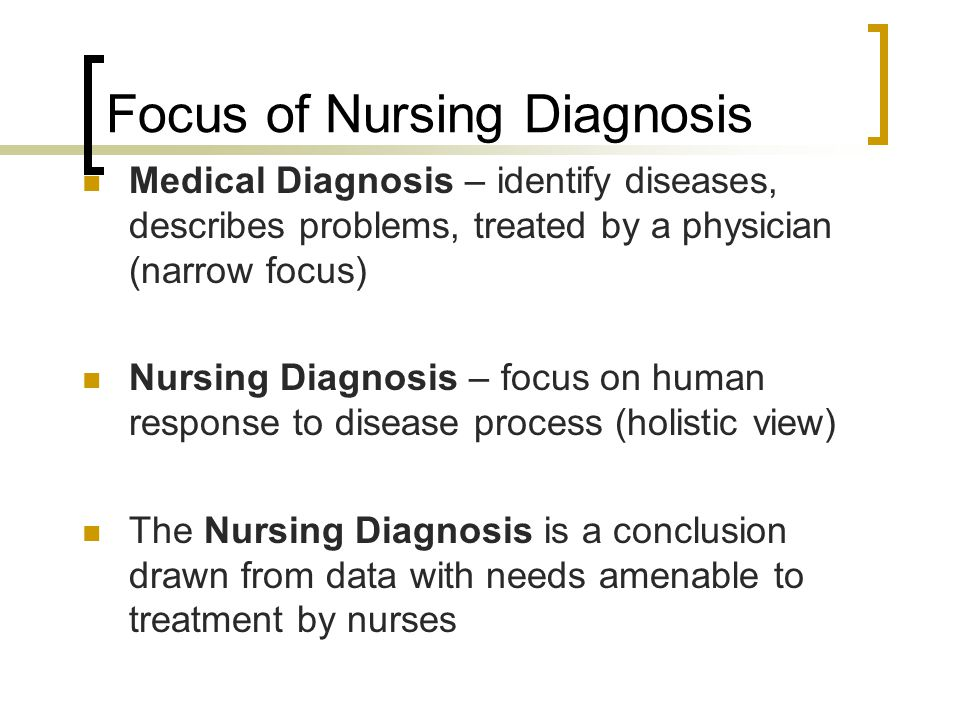 Focus of Nursing Diagnosis
