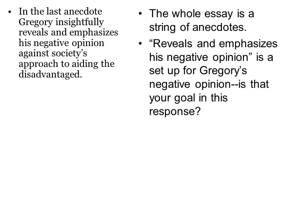 comparative essay example on gregory and