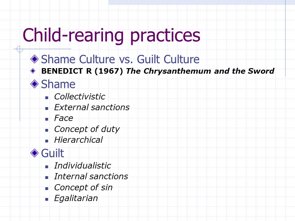 how child rearing practices are influenced by society and culture Culture is transmitted to children by their parents and other members of society   therefore, his social theory involves the interplay between 1 and 2  and  technological tools influence cognitive development through child-rearing  practices.