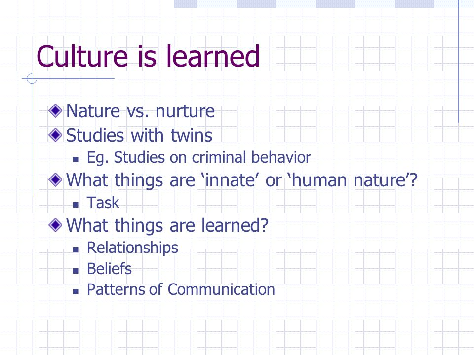 nature vs. nurture Essay Examples