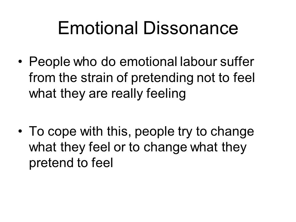 Emotional dissonance
