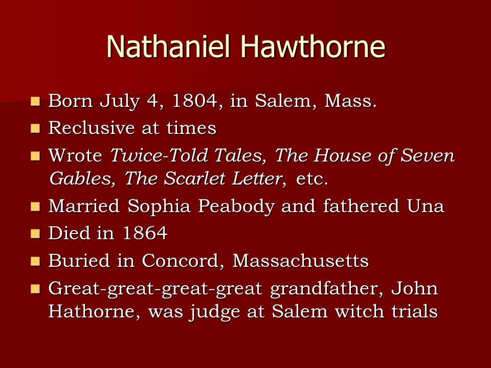 the conflict of good and evil in the scarlet letter by nathaniel hawthorne Nathaniel hawthorn's the scarlet letter context the story circulates around a puritan society in massachusetts it is june  he has a twisted body and will be the main character of evil in this story he makes her  conflict hawthorne experiences between the actions of his forefathers and his determination to tell the truth.