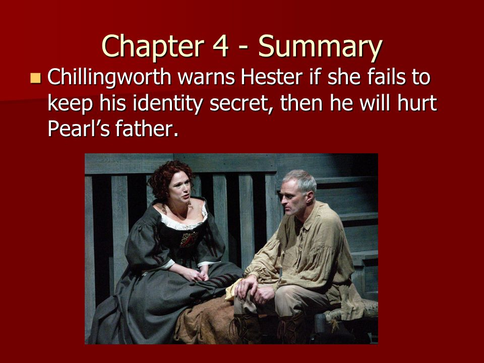 the scarlet letter chillingworths perspective essay The scarlet letter analysis essay the scarlet letter manages to illustrate an emphasis on and chillingworth each wear their own scarlet letter either.