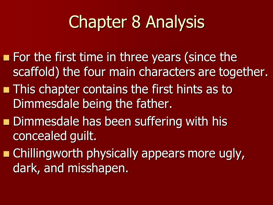 an analysis of suffering in the scarlet letter by nathaniel hawthorne A summary of chapters 11–12 in nathaniel hawthorne's the scarlet letter learn exactly what happened in this chapter, scene, or section of the scarlet letter and.