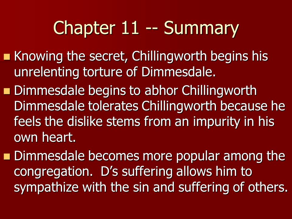 a study of dimmesdales death in the scarlet letter by nathaniel hawthorne The scarlet letter study guide let's take a look at nathaniel hawthorne's the scarlet letter to see how he foreshadowing in the scarlet letter.