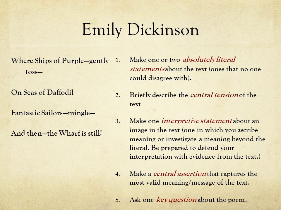 theme on emily dickinson essay In this lesson, we will examine the life of emily dickinson and the major themes of her poetry from there, we will focus on her poem 'hope is the.