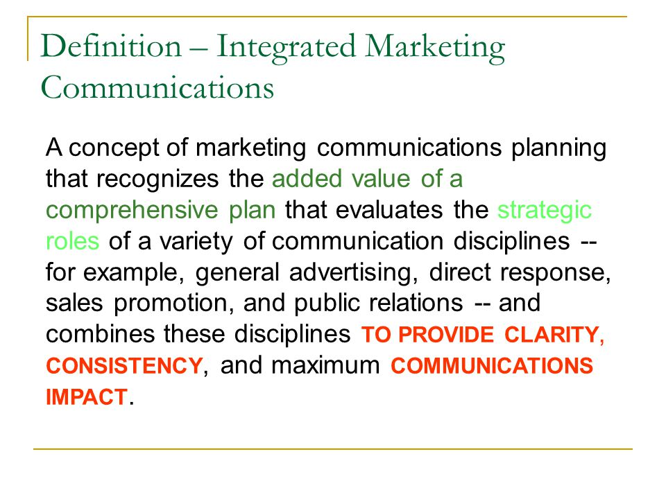 integrated marketing communications examples