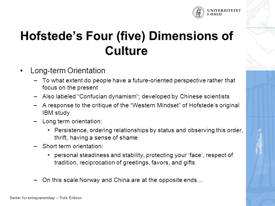 five dimensions of culture Dimensions of culture from  the use of six dimensions which cross cut all culture,  and other revolutionary changes in the other five dimensions.