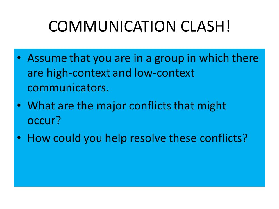 high and low context communication styles High-context culture is a phrase that was created by anthropologist edward t hall in the 1970s to describe a culture's style of communication.