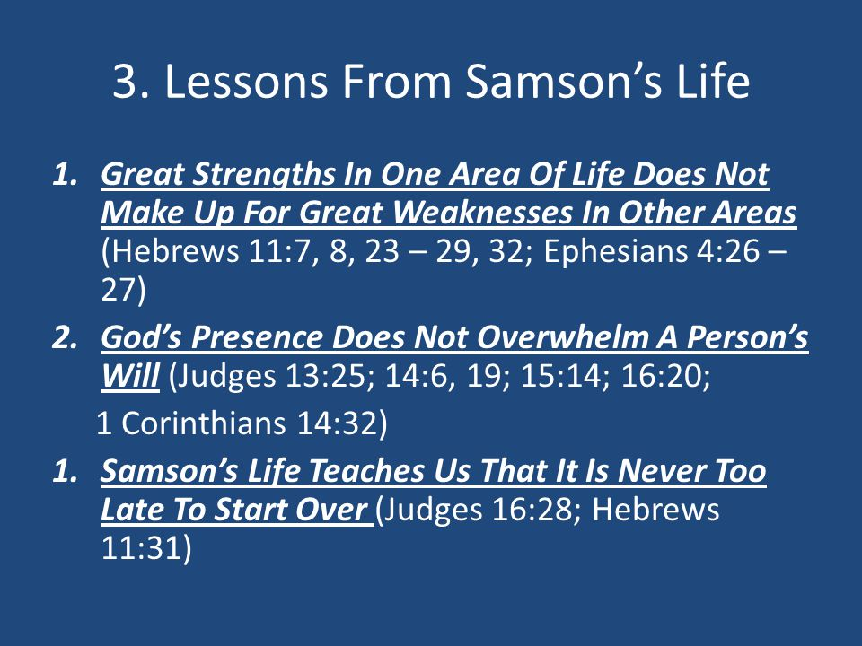 """Samson: Hall Of Shame Or Faith?"" - ppt download"