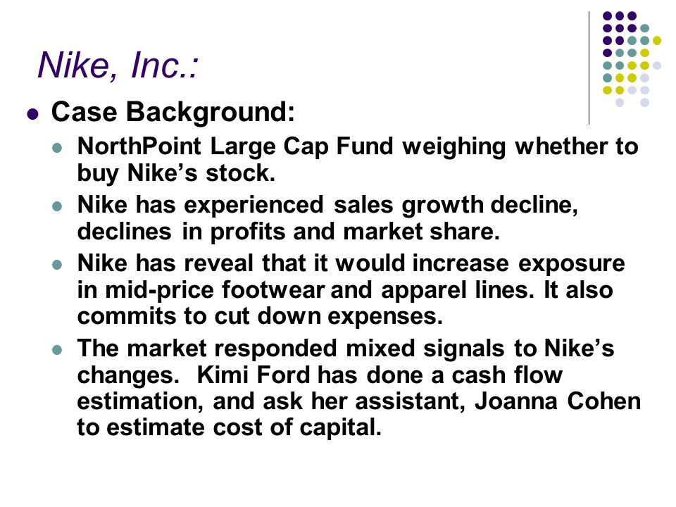 nikes cost of capital