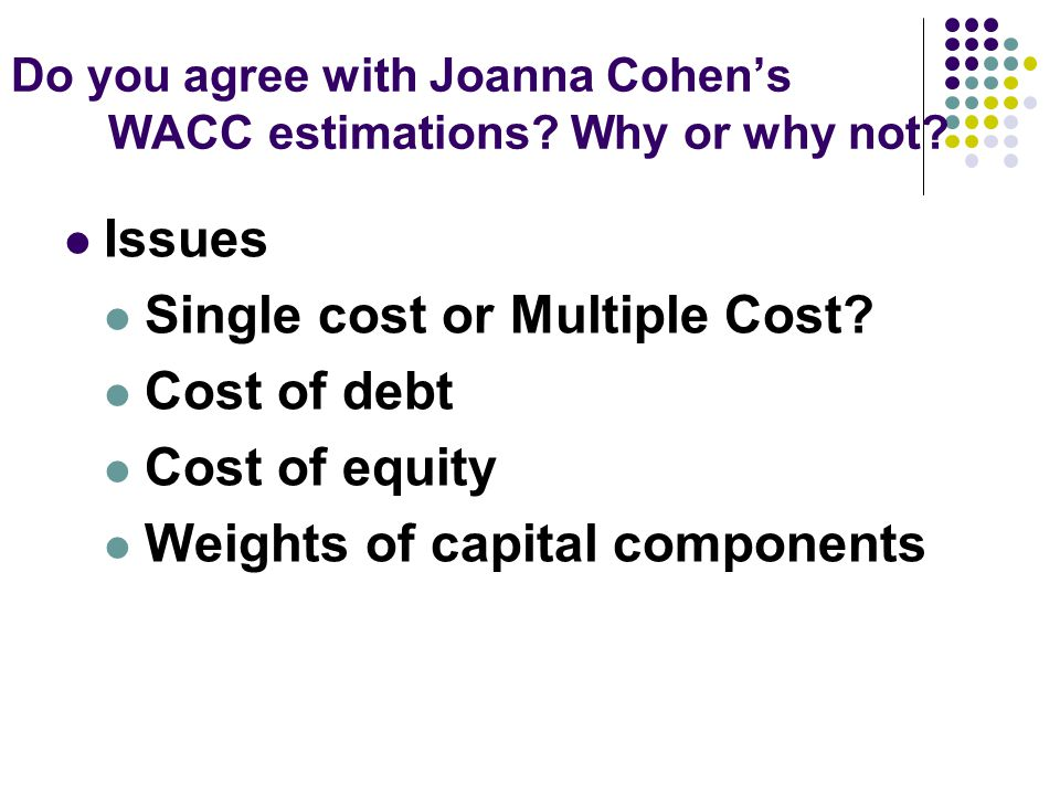 why are the costs of debt issues less than those of equity issues Why equity can be so much more expensive than debt where a large number of participants could not understand why the cost of equity was so much higher than the.