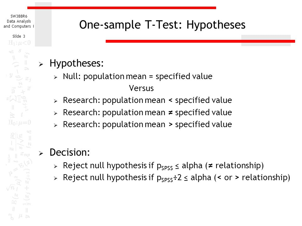 research sampling and null hypothesis Bootstrap hypothesis test but to do this we need to know the sampling distribution of our test we reject the null hypothesis and conclude.