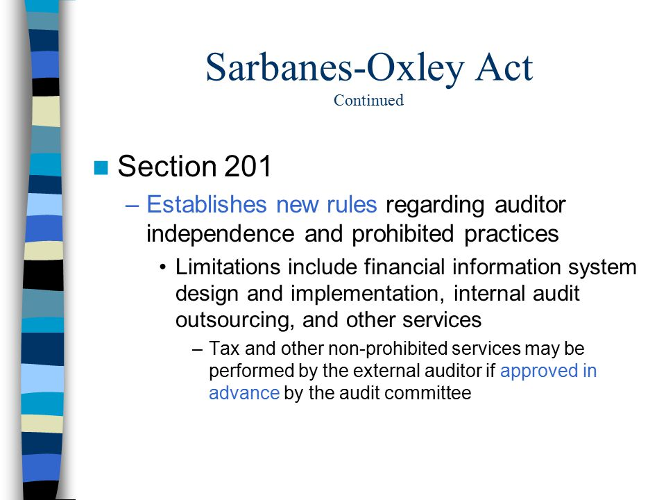 the sarbanes oxley act regulating financial practices As is the case in many industries today, the us financial services  in particular,  it has been argued by some that sox may have  regulatory practices through  both formal and informal dialogues and technical consultations.