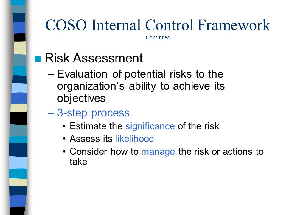 kudler's internal controls and risk evaluation Free essays from bartleby   internal controls internal controls are measures that   kudler fine foods - internal control and risk evaluation internal controls are.